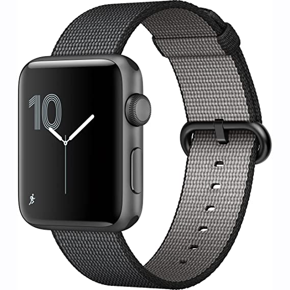 size 40 70e36 10743 Amazon.com: Apple Watch Series 2 42mm Space Gray Aluminum Case with ...