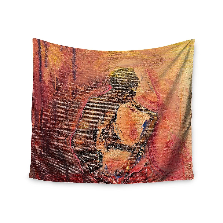 Kess InHouse Josh Serafin Catch The Wind Orange Red Wall Tapestry, 51' x 60'