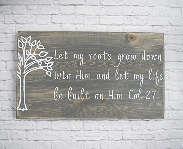 amazon com christian wood sign bible verse wall art wood wall