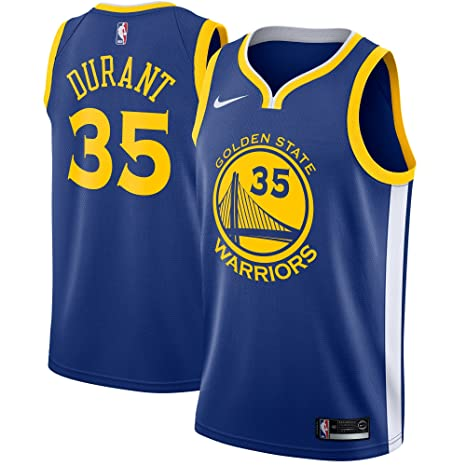 9cf14c6c9 Nike Kevin Durant Golden State Warriors NBA Men's Royal Blue Road Icon Edition  Swingman Connected Jersey