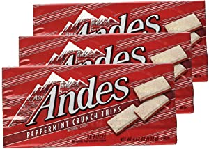 Andes Peppermint Crunch Thins, 3 Boxes (28 pcs in each)
