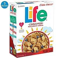 3-Count Quaker Life Cinnamon Cereal 13 oz
