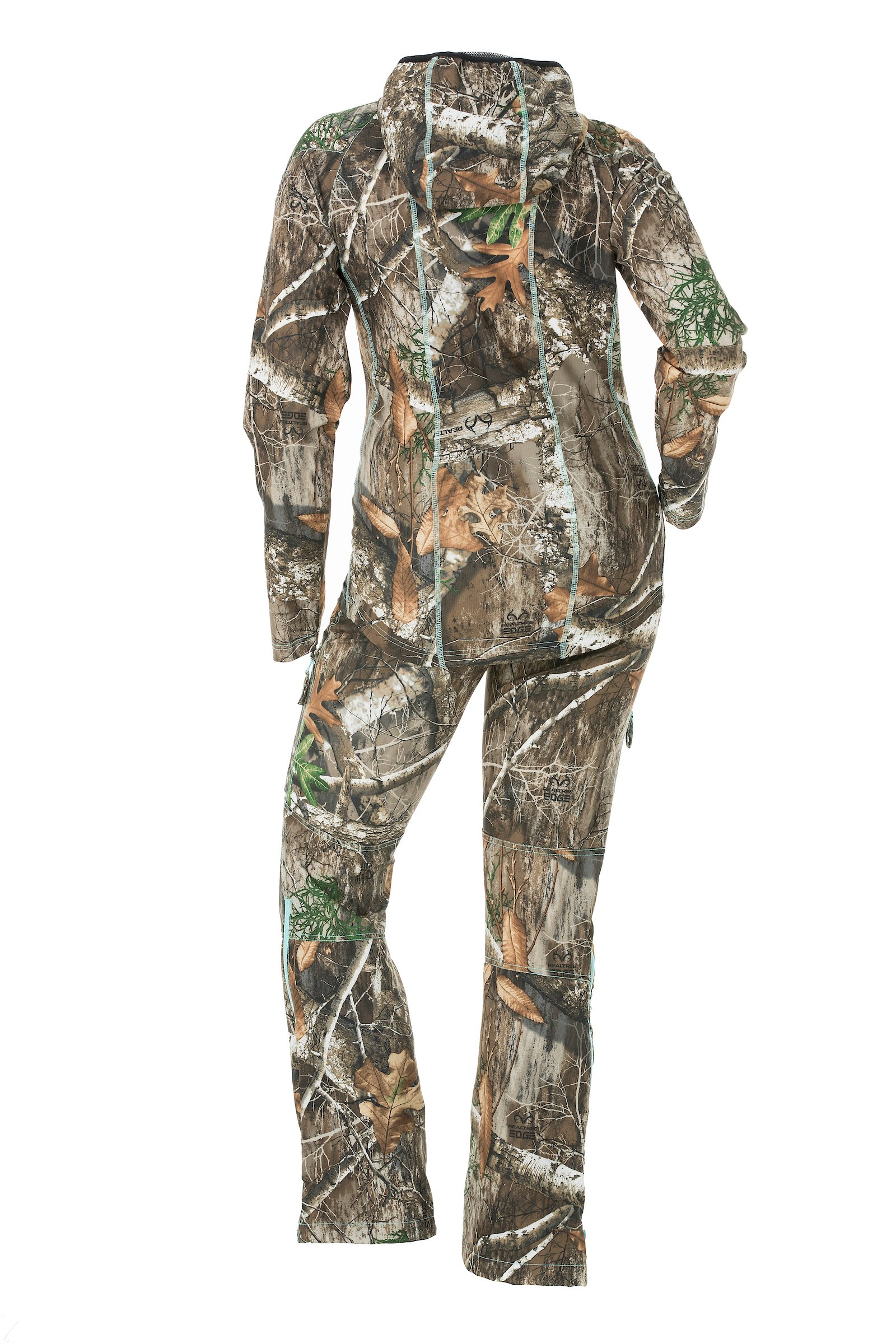 DSG Outerwear Women's Ultra-Lightweight Bexley Ripstop Tech Shirt with Realtree Camo Edge (X-Large) by DSG Outerwear