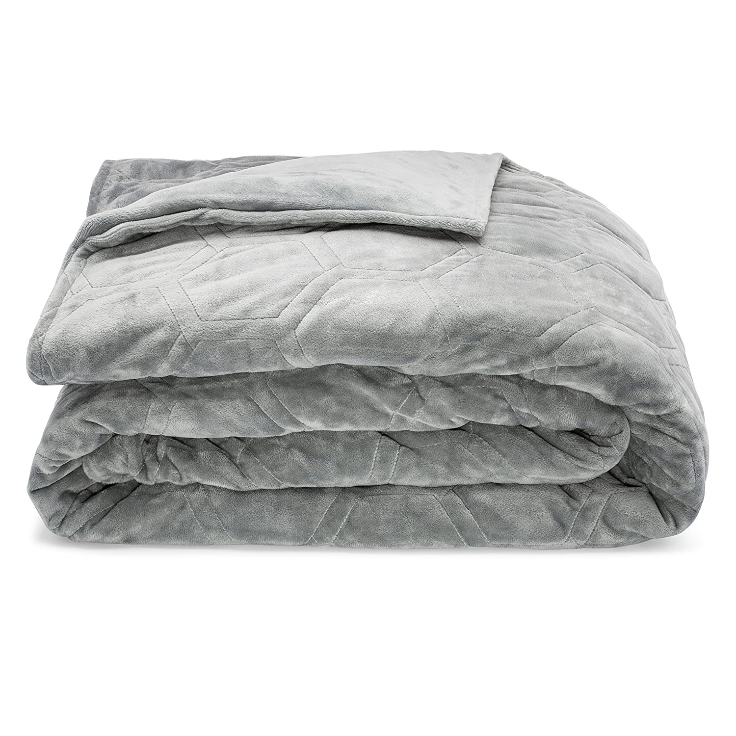 """48/""""x72/""""15lbs, Grey SAFR Home Therapy Weighted Blanket /& Removable Cover"""