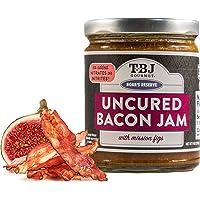 TBJ Gourmet Balsamic Fig Bacon Jam - Original Recipe Bacon Spread - Uses Real Bacon, No Preservatives - Authentic Bacon Jams - 9 Ounces