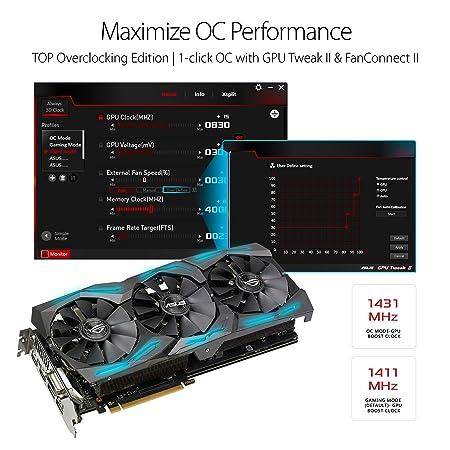 ASUS ROG-STRIX-RX580-T8G-GAMING - Tarjeta gráfica (Radeon RX 580, 8 GB, GDDR5, 256 bit, 7680 x 4320 Pixeles, PCI Express 3.0): Amazon.es: Informática