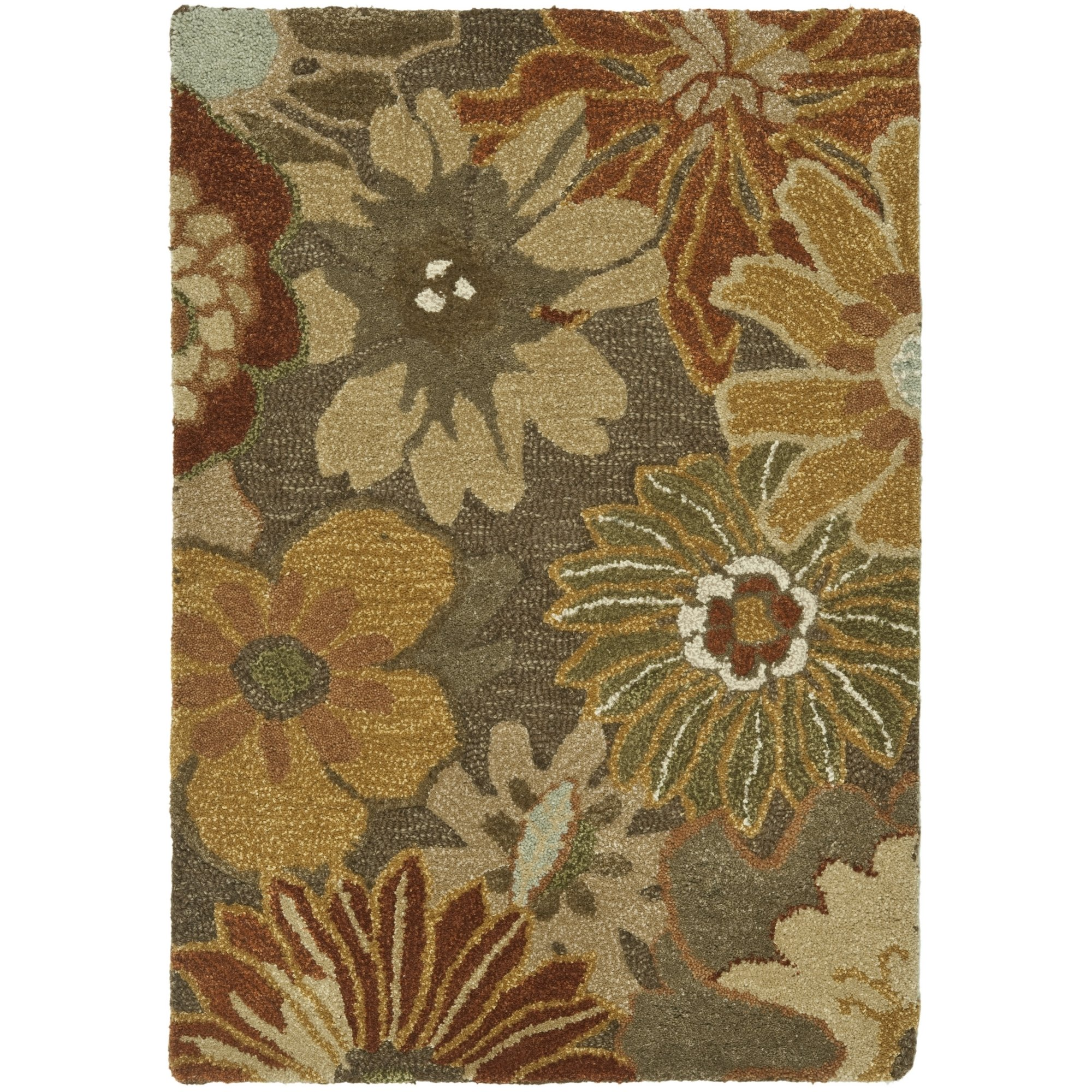 Safavieh Soho Collection SOH820A Handmade Brown and Multi Premium Wool Area Rug (2' x 3') by Safavieh