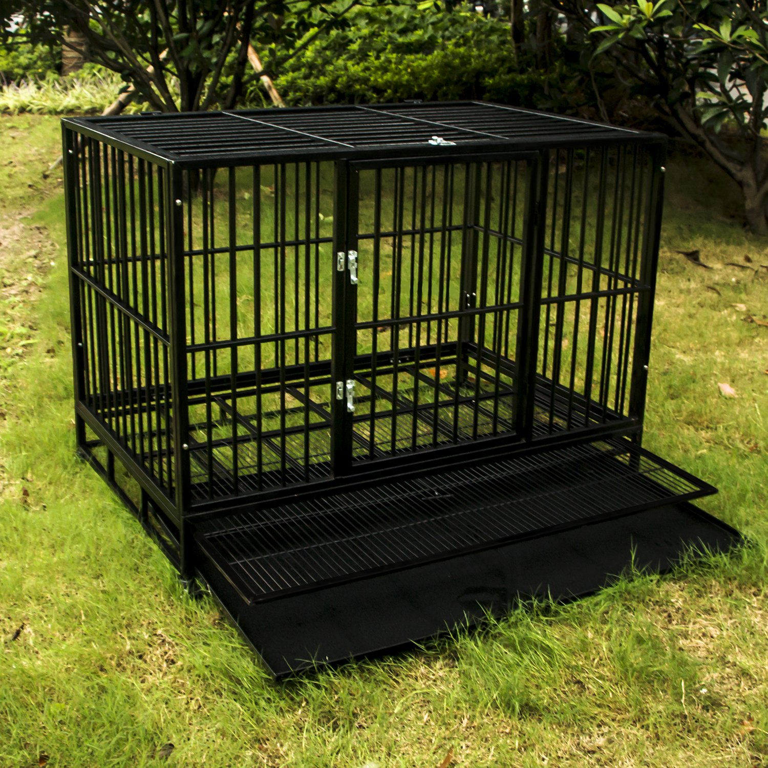 Walcut Heavy Duty Strong Metal Pet Dog Cage