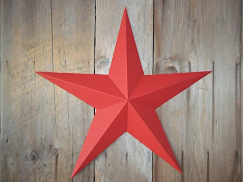 Heavy Duty Metal Star 24″ Painted Solid Radiant Red. These Metal Stars Are a Great Addition to Your Home Decor. You Will Not Be Disappointed