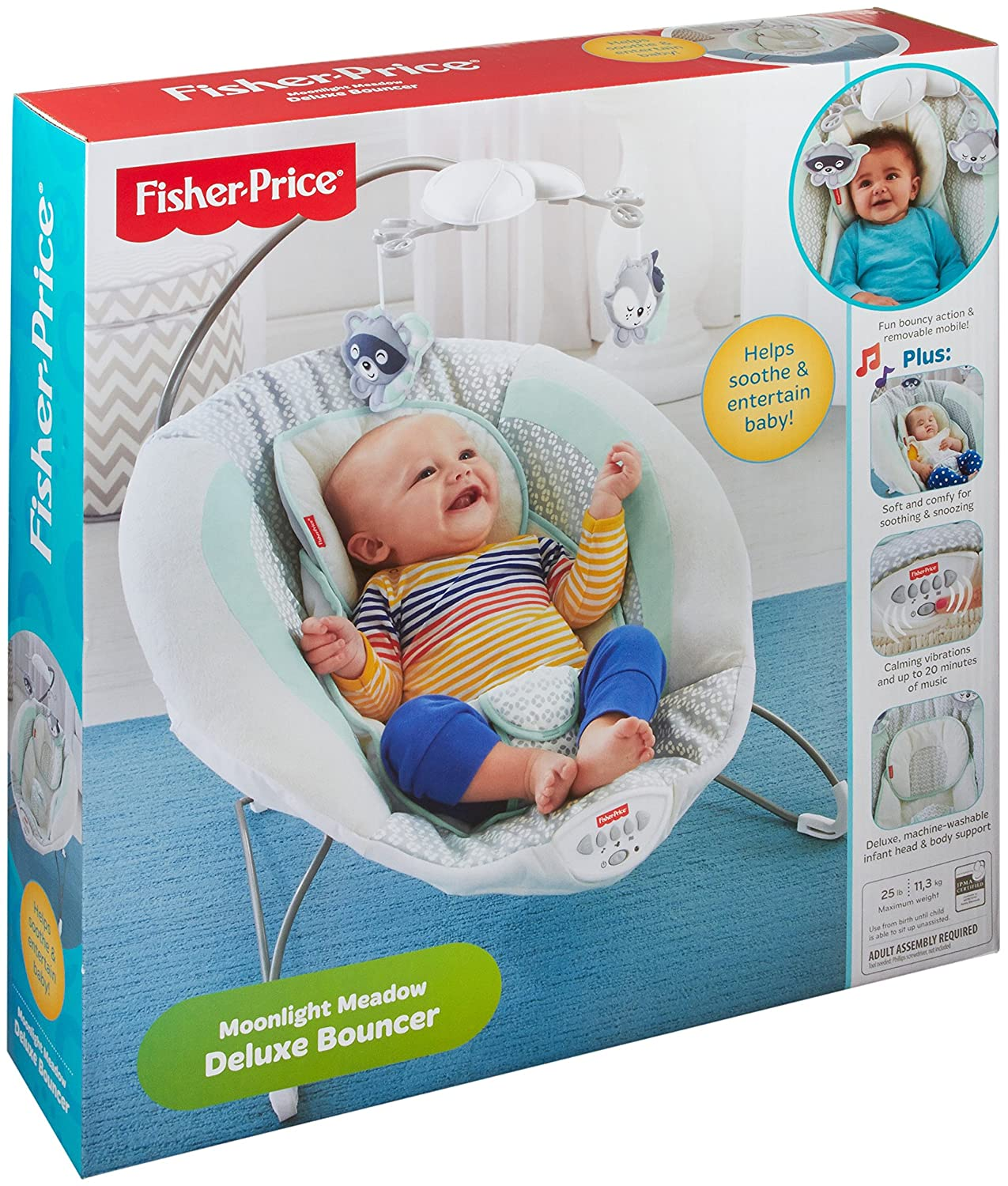 Fisher Price - Sweet Snugapuppy Dreams Deluxe Bouncer Amazonca/FISNE DTH04