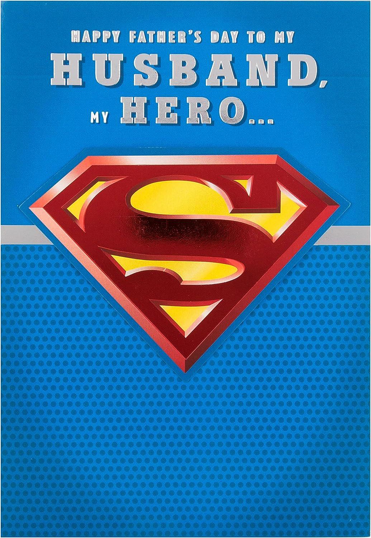 Signature for Him unique superman shirt Happy Fathers day card Funny dc comics