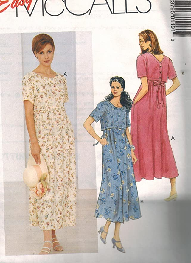 GQ Size US 6-14 McCall/'s Loose Fitting Dress Pattern R10059