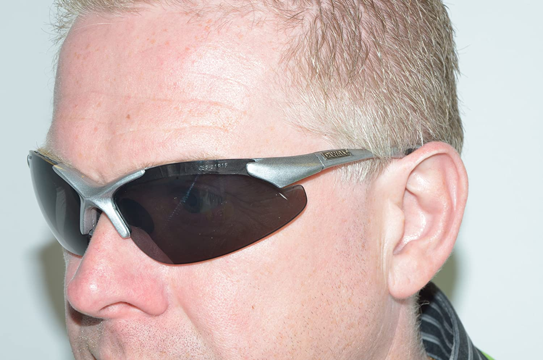 DeWalt SGINFS Silver Frame Wraparound Corded Smoke Lense
