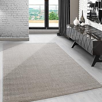 Carpetsale24 Modern Kurzflor Teppich Unifarben Einfarbig Design Meliert  Beige Cream Für Wohnzimmer. Esszimmer Oder