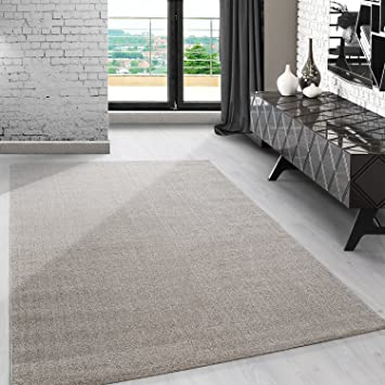 Amazon.de: Carpetsale24 Modern kurzflor Teppich unifarben einfarbig ...