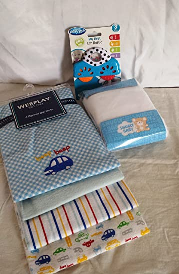 3015dfa624 Amazon.com   Snuggly Baby Crib Sheet Gift Set Car Theme   Baby