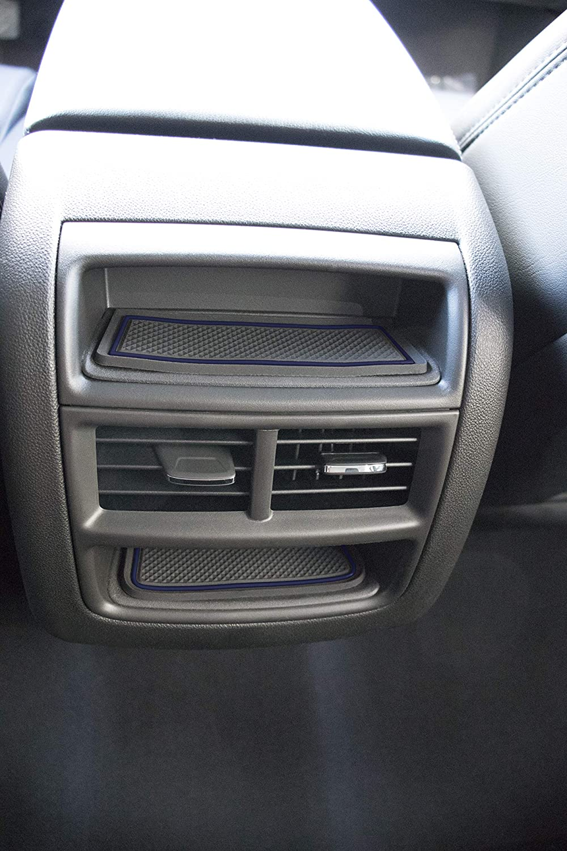 Dark Blue Trim CupHolderHero Center Console Liner Accessories 2019 2018 2017 Cadillac XT5 11-pc Set Door Custom Fit Cup