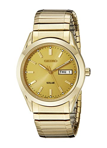 Seiko Watches SNE058 - Reloj de Pulsera Hombre, Acero Inoxidable, Color Oro: Amazon.es: Relojes