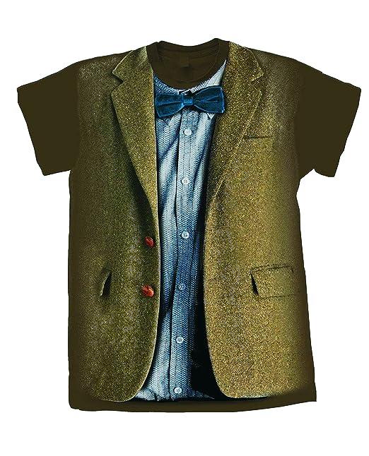 Amazon.com: Doctor Who Matt Smith 11th Dr Costume T-Shirt ...