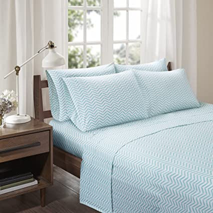 Cotton Jersey Sheets Set   Ultra Soft Twin XL Bed Sheet With Deep Pocket    Aqua