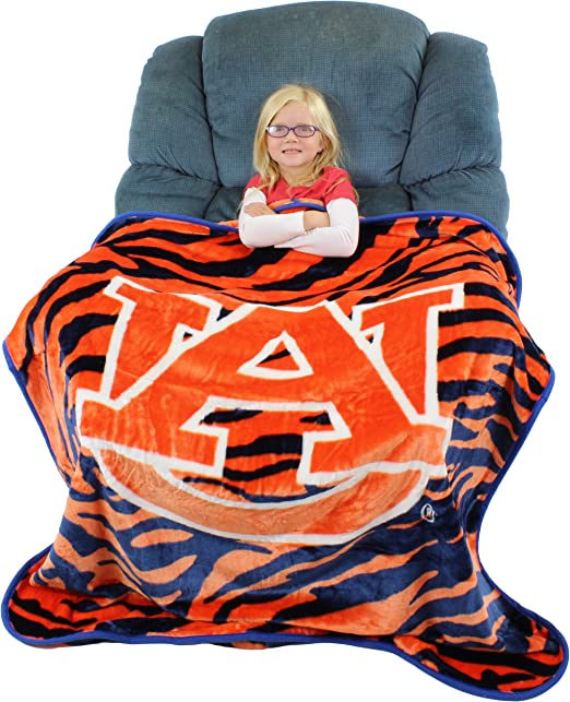 50 x 60 College Covers Clemson Tigers Raschel Throw Blanket