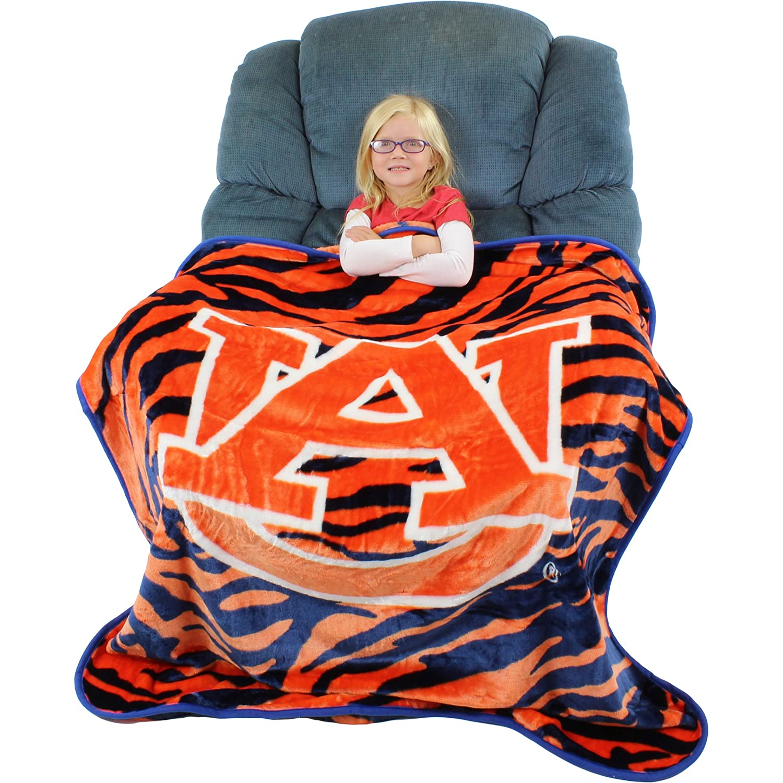 "College Covers Auburn Tigers Raschel Throw Blanket, 50"" x 60"""