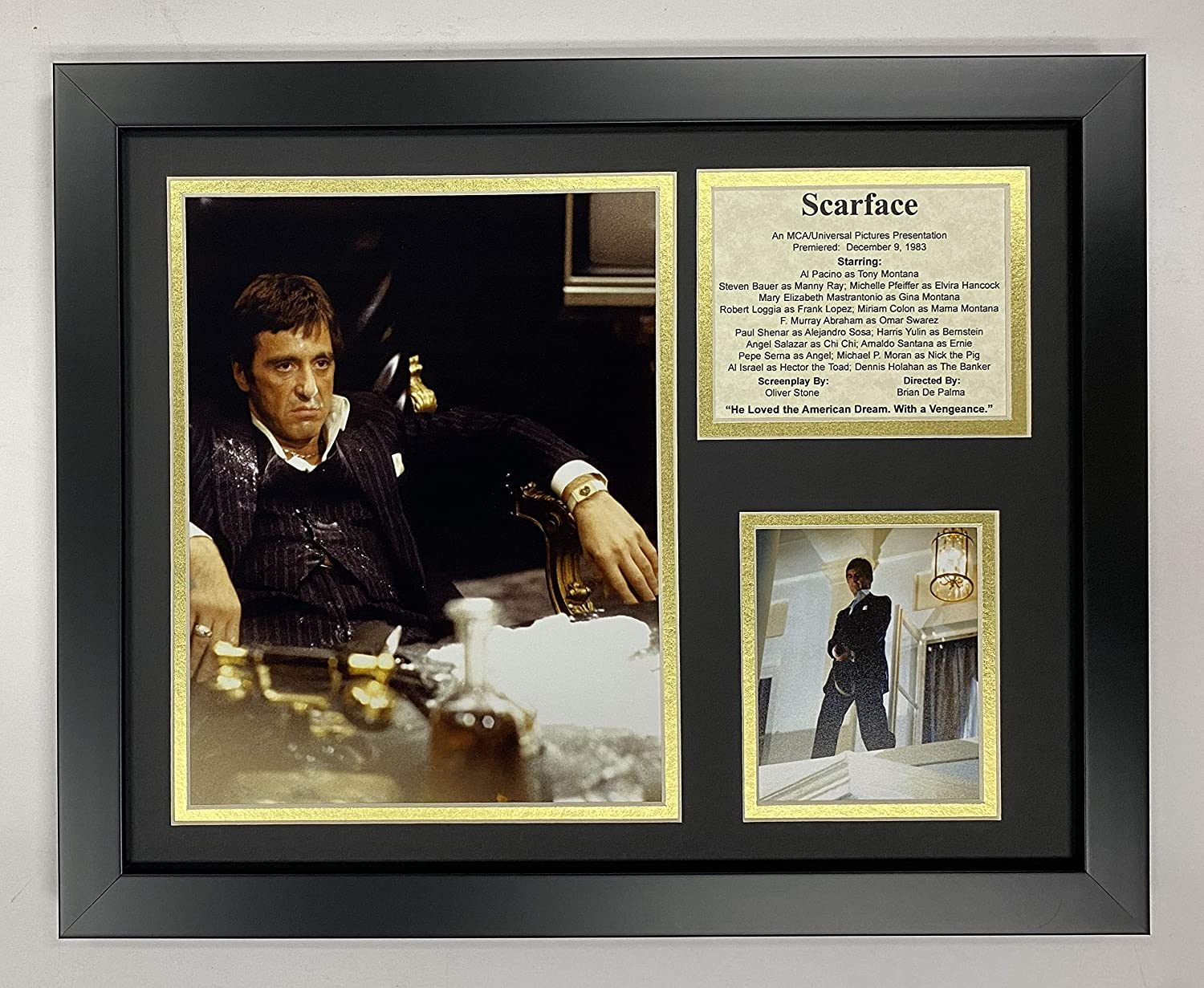 Legends Never Die Scarface- Al Pacino The Drug King of Miami Collectible | Framed Photo Collage Wall Art Decor - 12