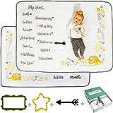 Babble Bum Baby Milestone Blanket for Boy or Girl; Soft Fleece Gender Neutral Double-Sided Monthly Milestone Blanket for Firs