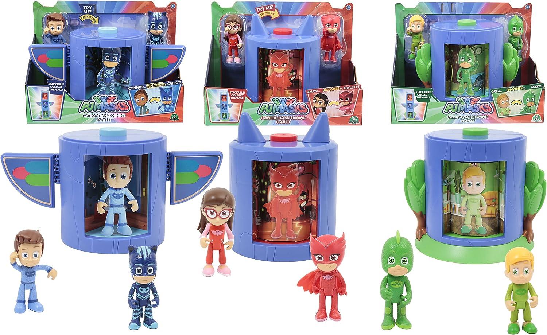Giochi Preziosi - PJ Masks - Cámara de transformación en superhéroe, Amaya y Buhíta Connor y Gattoboy , color/modelo surtido