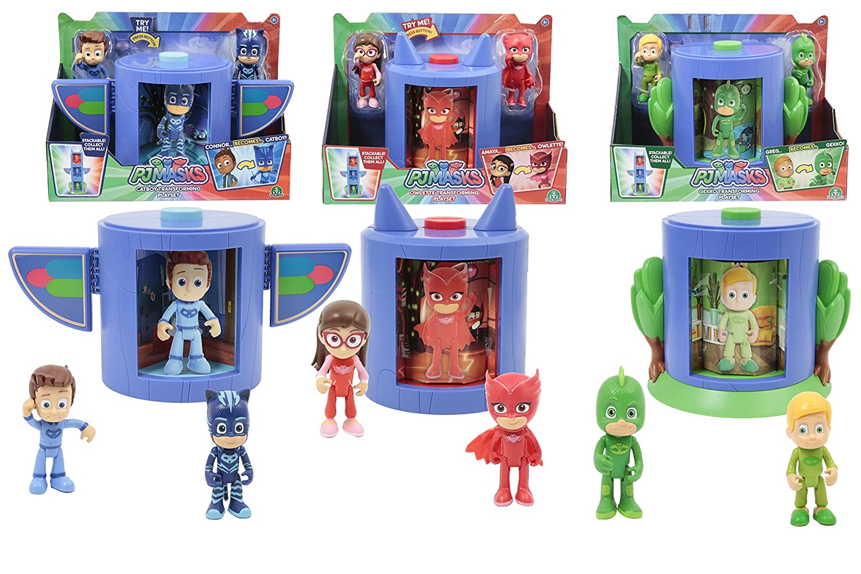 Giochi Preziosi - PJ Masks - Cámara de transformación en superhéroe, Amaya y Buhíta Greg y Geco: Amazon.es: Juguetes y juegos
