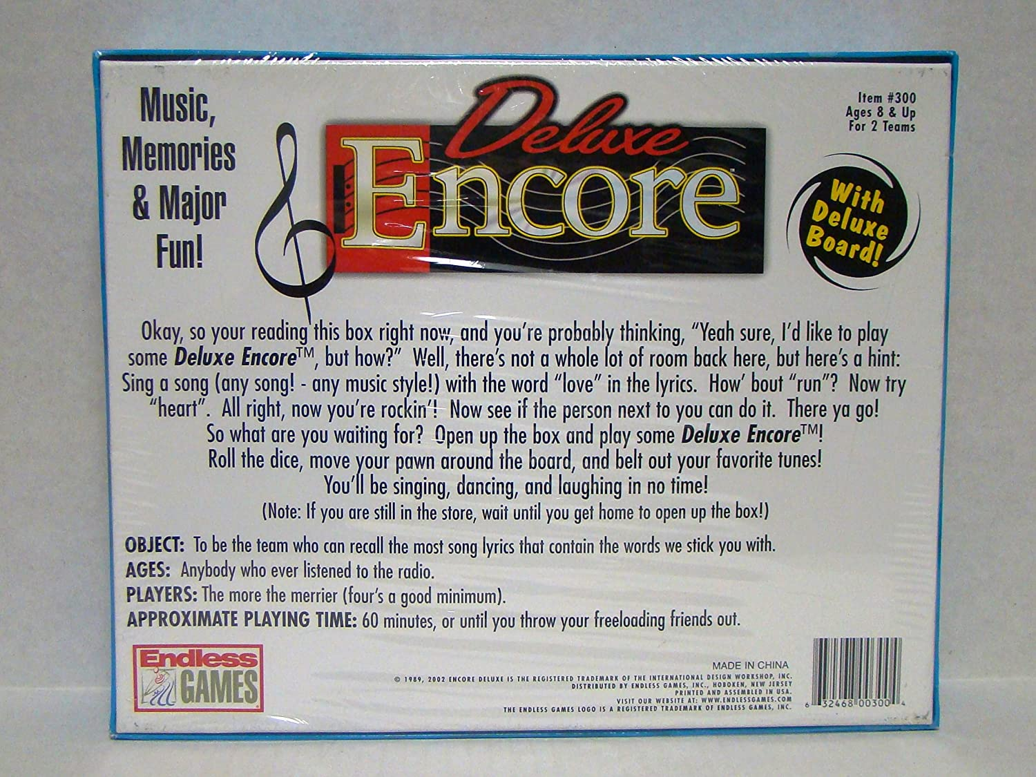 Amazon.com: ENCORE DELUXE by ENDLESS GAMES (BOARD GAME): Toys & Games