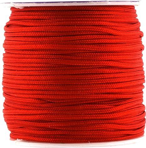 Jewelry Making Macram/é Kumihimo Rattail Trim Thread for Chinese Knotting 1mm, 109 Yards, Red Sewing Mandala Crafts Nylon Satin Cord Beading