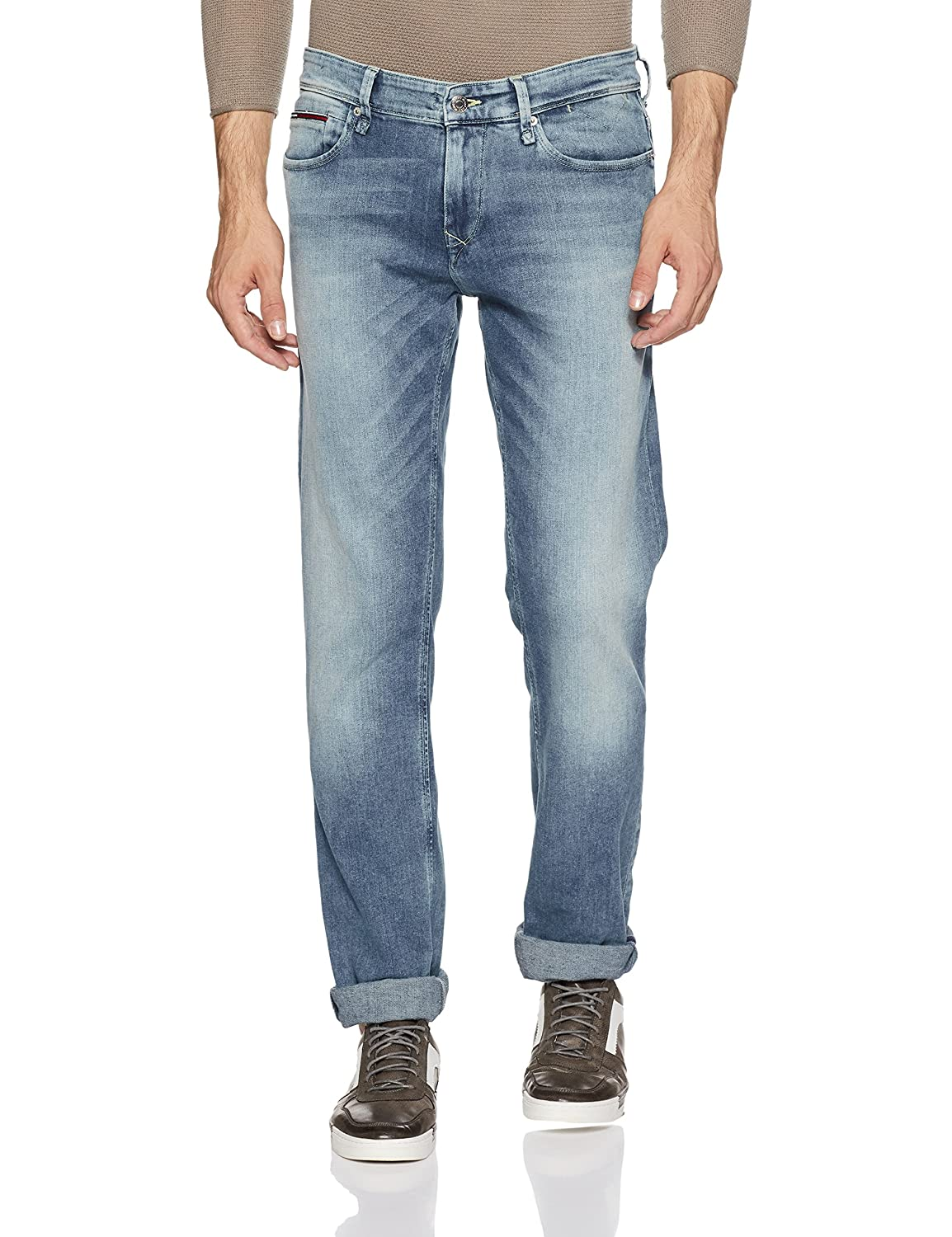7bd9f41b824236 Tommy Hilfiger Men s Skinny Fit Jeans  Amazon.in  Clothing   Accessories