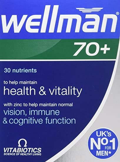 Wellman 70 Plus Tablets - Pack of 30 Tablets