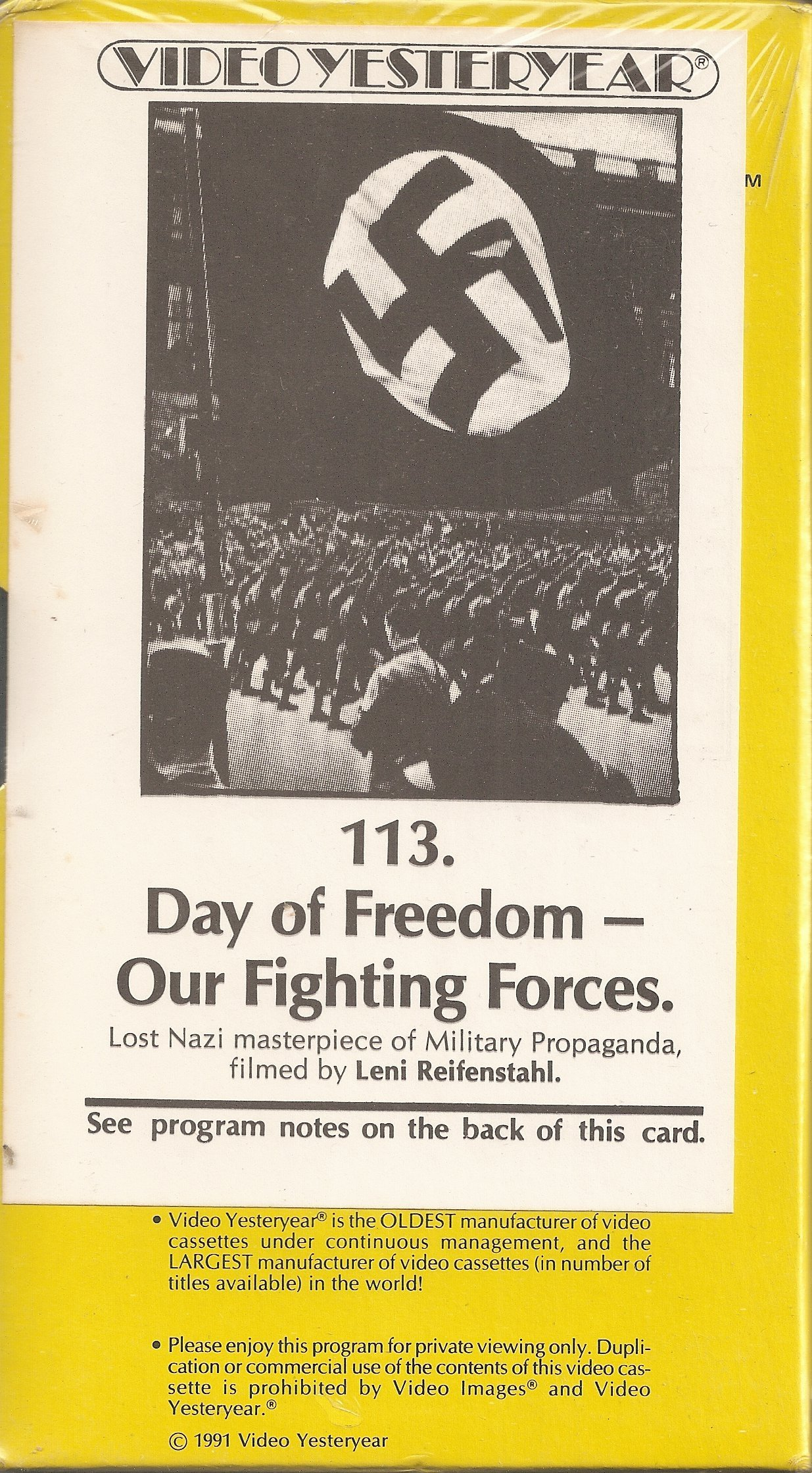 Day of Freedom - Our Fighting Forces (Tag Der Freiheit) (1935-Germany) [VHS] by Nazi Party Propaganda