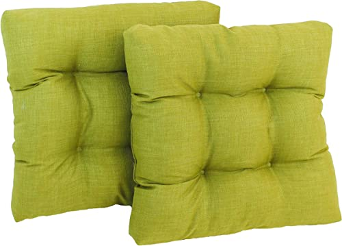 Blazing Needles Squared Solid Spun Polyester Tufted Dining Chair Cushions Set
