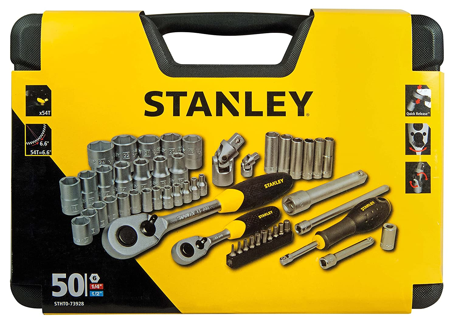 Stanley STHT0-73401 Socket FM Wrench Set Set of 30 Pieces Silver 1//2-Inch
