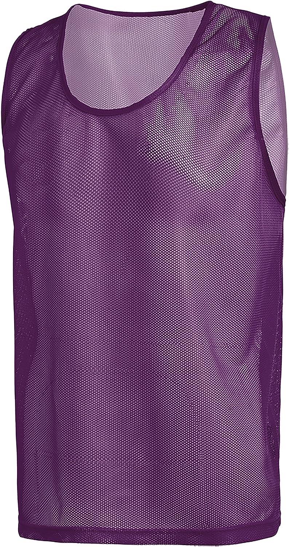 Purple, Single Vest Adult American Challenge Soccer Sports Scrimmage Vest Jersey