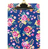 """bloom daily planners Letter Size Clipboard - 9"""" Wide x 12.5"""" Tall - Vintage Floral"""