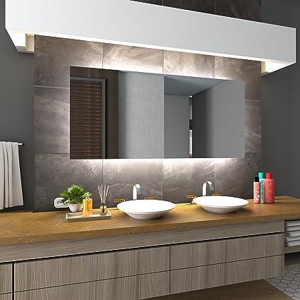 Bekannt Badezimmerspiegel mit Beleuchtung LED Spiegel -120x80 cm SG22