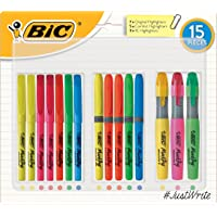 BIC 939355 Highlighter Pens Student Bulk Pack - Assorted Colours Pack of 15 Highlighters