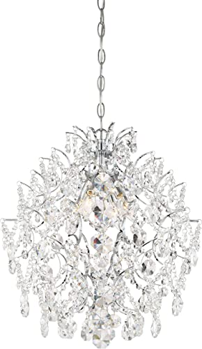 Minka Lavery Crystal Chandelier Lighting 3156-77 Isabella s Crown, 4-Light 240 Watts, Chrome
