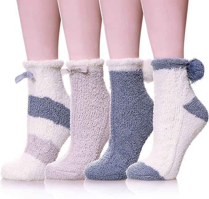 Novelty Over Knee Fluffy Animal Socks Warm Soft Cosy Gift Bed Socks Soft Fine