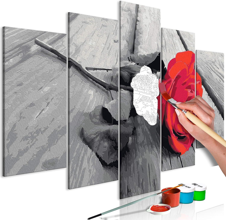 Murando Malen Nach Zahlen Rose Holz 100x50 Cm 5 Tlg Malset Mit Holzrahmen Auf Leinwand Fur Erwachsene Kinder Gemalde Handgemalt Kit Diy Geschenk Dekoration N A 0608 D M Amazon De Spielzeug