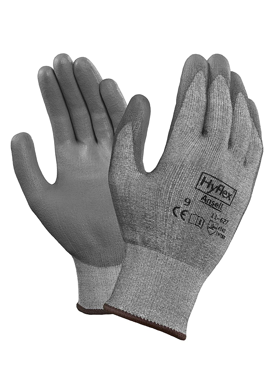 Ansell HyFlex 11-627 Dyneema Glove, Cut Resistant, Polyurethane Coating, Medium, Size 9 (Pack of 1): Cut Resistant Safety Gloves: Industrial & Scientific