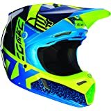 Fox Racing Divizion Youth V3 Motocross Motorcycle Helmet - Blue/Green / Large