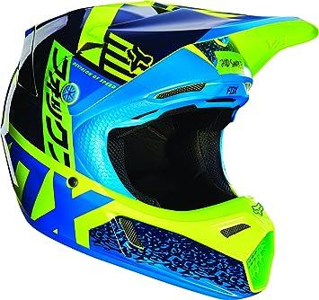 Fox Racing Divizion juventud V3 Motocross casco de moto – azul/verde