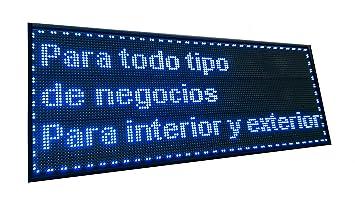 Cartel LED PROGRAMABLE (128x48 cm, Azul) Letrero LED ...