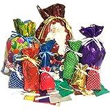 *New* Gift Mate 74-Piece Holiday Drawstring Gift Bag Set