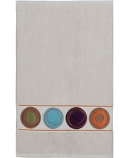 Creative Bath Products Dot Swirl Embroidered Bath Towel, Multi Color